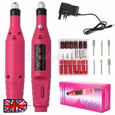Professional Electric Manicure Pedicure False Nail Art File Drill Machine Set UK