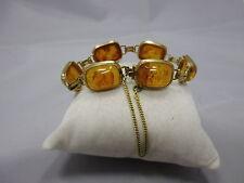 schönes Art Deco Bernstein Armband aus Gold 333 punziert
