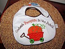 Cutest Pumpkin in the Patch Baby Bib Wagon with Pumpkin Appliqued