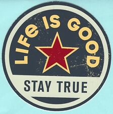 environ 10.16 cm Life Is Good Drapeau Rond Autocollant Decal 4 in
