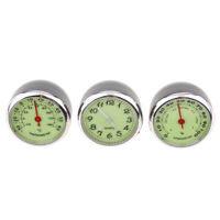 3 PCS/Set Car Thermometer Hygrometer Quartz Clock For Dashboard Ornaments