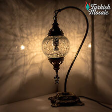 Hand Made Turkish Moroccan Style Mosaic Table Desk Lamp Light USA Std M Globe