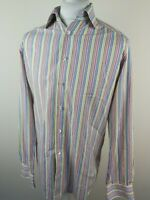 Mens Eton Stripe Shirt 16.5 Collar 44 Chest Vgc