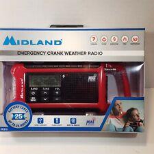 Midland ER210 Ready Emergency Crank Weather Radio Battery Lasts Up to 25 Hours