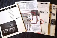 Original BOSE Owner's GUIDE BUNDLE for Acoustimass 6 Home Theater Speaker System