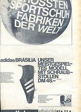 Adidas---Brasilia--Modell mit Schraubstollen-Zeitungsausschnitt von 1967