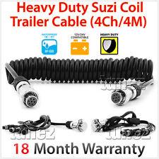4-Channel 4 Meter Suzi Coil Trailer Cable 4PIN Connectors Truck Trailer Caravan