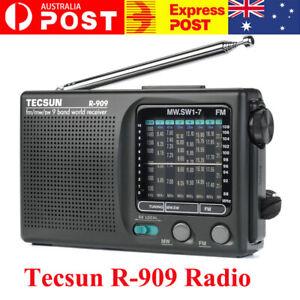 TECSUN R-909 Portable Radio FM MW(AM) SW(Shortwave) 9 Bands World Receiver AU~~