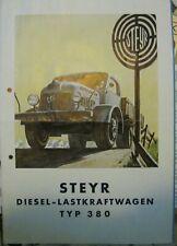 * Steyr 380 Lastwagen Omnibus 9/1951  Prospekt Brochure deutsch