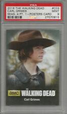 2016 The Walking Dead Carl Grimes Season 4 Pt. 1 PSA 9 Poster Card