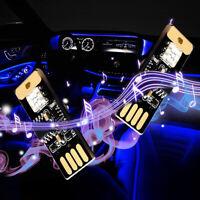 Mini USB Colorful LED Car Interior Light Voice Control Atmosphere Ambient