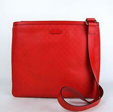New Gucci Red Hilary Lux Diamante Leather Messenger Bag 201446 6523