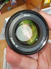 Nikon AF NIKKOR 50mm f/1.4D, Boxed. Near Mint.