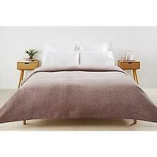 King / Queen: Plush, soft to touch lilac / blush coverlet / bedspread / blanket
