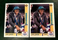 1991 - 1992 Upper Deck #2 Larry Johnson RC - Hornets (2)