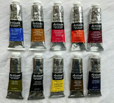 Winsor and Newton Artisan Water Mixable Artists oil colour paint.10x37ml tubes