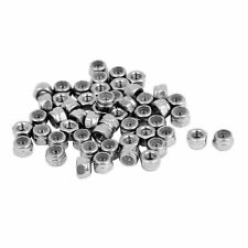 50 Pcs 0.5mm Stainless M3 Steel Nylock Nylon Insert Hex Lock Nuts Tools Mechanic