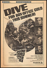 AROUND THE WORLD UNDER THE SEA__Original 1966 Trade AD / poster__DAVID McCALLUM