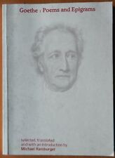 GOETHE : POEMS AND EPIGRAMS