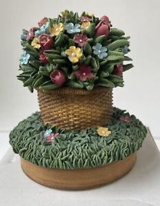 Flower Basket Candle Topper For Medium Or Large Jar Candles