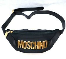 MOSCHINO Redwall black gold waist bag  hand purse fanny pack shoulder small