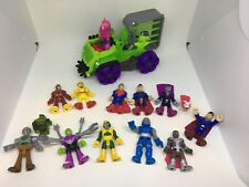 Imaginext DC Super Friends Lex Luthor Hauler and Superman Lot.  See Photos. Used