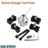 Aluminum Alloy Quick Change Tool Post Holder Kit Set Lathe Accessory