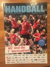 Handball Magazin 1. Bundesliga Frauen Saison 2015/2016 Poster Bayer Leverkusen
