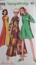 Simplicity Misses Pantdress Sewing Pattern 7359 Size 14 Bust 34 From 1967
