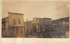 Gilbert IA Buggies~Furniture-Harness Shop~Real Estate Office~Many Gone RPPC 1910
