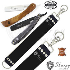 3 Pieces Men's Shaving Kit With Two Cut Throat Razors & Sharping Strop for Him.