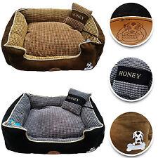 3PC Dog Bed Mattress Pillow Puppy Cat Pet Comfy Fur Fleece Washable Soft Luxury
