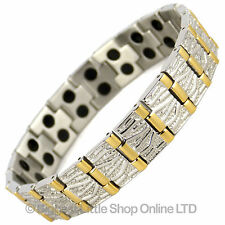 New Mens Magnetic Stainless Steel 38 Magnet Bracelet Bio NdFeB Neodymium Therapy