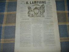 1862 FIRENZE ANNO 5° 39 IL LAMPIONE GIORNALE SATIRICO ILLUSTRATO LITOGRAFIA MATA