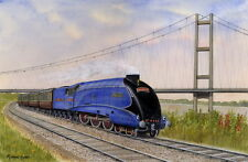 Yorkshire Icons Mallard and the Humber Bridge - Ltd Ed Print - Trains