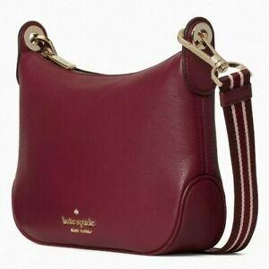 Kate Spade Rosie Crossbody Burgundy Pebbled Leather WKR00630 NWT $349 Retail FS