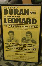 Duran  vs Leonard, 1st Bout, June 1980, Framed Poster, Baton Rouge Centroplex