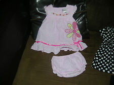 girls/baby outfit size 12 months dress with bottoms