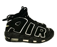 Nike Air More Uptempo GS Black/White Sneakers Athletic Boy's Size 5.5 Casual .