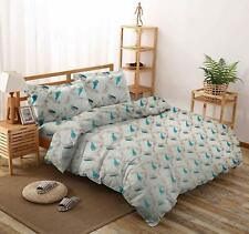 100% Cotton Printed Indian Double Bedsheet with 2 Pillow Covers Ivory Bedsheet