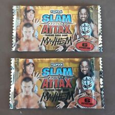 Slam Attax, Mayhem, 2010, Topps, Two Unopened Packs With Stickers
