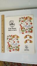 Paper Christmas Ornament Kit Craft Master World of Crafts Charmers 1974