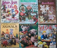 Teddy Bear Sewing Patterns Bunnies Bears Cats Babies Dolls Stuffed Animals VTG