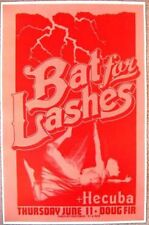 BAT FOR LASHES Gig POSTER June 2009 Portland Oregon Concert