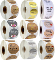 500 Thank You Stickers For Your Purchase Business Labels Round Heart Wedding/