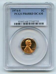 1974 S 1C Lincoln Cent Proof PCGS PR68DCAM