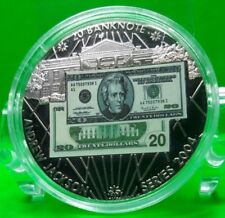 $20 ANDREW JACKSON BANKNOTE COMMEMORATIVE COIN PROOF VALUE $59.95