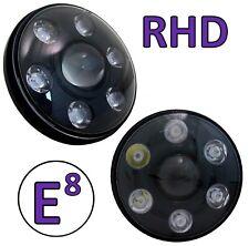 LED BLACK head lights for Land Rover Defender RHD UK Pair 90 110 lamps