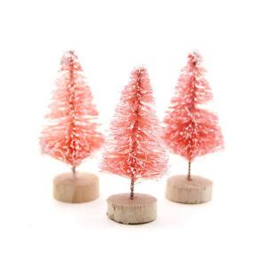 10pcs/set Tree Christmas Pine Fake Mini Bottle Sisal Brush Small Snow Frost Xmas