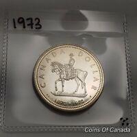 1973 Canada Silver Dollar UNCIRCULATED Specimen Coin RCMP Mountie #coinsofcanada